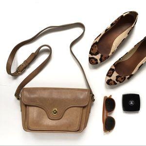 Coach 0759 Vintage Leather Crossbody Bag RARE